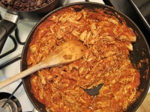 como hacer Tinga de pollo