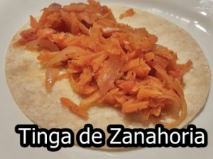receta de tinga de zanahoria