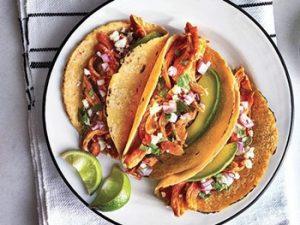 receta de Tacos de tinga de pollo