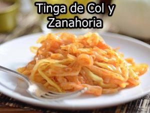 receta de Tinga Vegetariana de repollo y zanahoria
